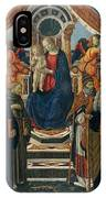 Madonna And Child Enthroned With Saints And Angels IPhone Case
