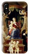 Madonna Del Baldacchino Raffaello Sanzio Da Urbino Raphael Raffaello Santi IPhone Case