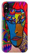 Magdalena On Fire - Mask - Abstract Face IPhone Case