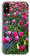 Magenta And White Tulips IPhone Case