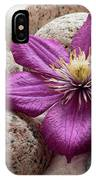 Clematis Flower On Meditation Stones IPhone Case