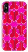 Magenta Half Heart IPhone Case