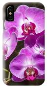 Magenta Orchids IPhone Case