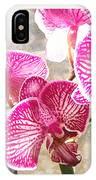 Magenta Orchids IPhone Case