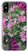 Magenta Petunias IPhone Case