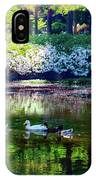 Magical Beauty At The Azalea Pond IPhone Case
