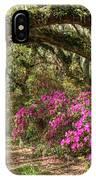Magnolia Plantation's Live Oaks And Azaleas  IPhone Case
