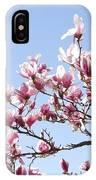 Magnolia Tree Against Blue Sky IPhone Case