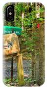 Mailbox On The Rural Country Road IPhone Case
