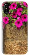 Mailbox With Petunias IPhone Case
