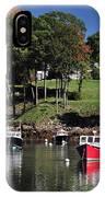 maine 18 Rock Port harbor View IPhone Case