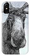 Maine Moose IPhone Case