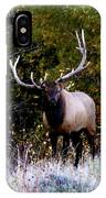 Majestic Bull Elk Survivor In Colorado  IPhone Case