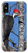 Male Pileated Woodpecker 6340 IPhone Case