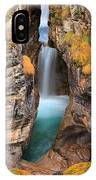 Maligne Canyon Falls Vertical Panorama IPhone Case