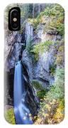 Maligne Canyon Waterfall IPhone Case