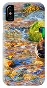 Mallard At The River - Impressions IPhone Case