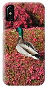 Mallard On A Floral Carpet IPhone Case