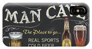 Man Cave Chalkboard Sign IPhone X Case