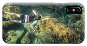 Man Free Diving IPhone Case