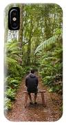 Man Relaxing In Strahan Rainforest Retreat IPhone Case