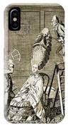 Man Using Sextant On Womans Coiffure IPhone Case