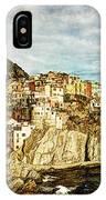 Manarola In The Sun - Vintage Version IPhone Case