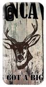 Mancave Deer Rack IPhone Case