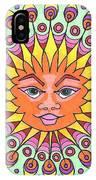 Peacock Sunburst IPhone Case