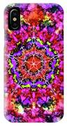 Mandala Floral Red Purple IPhone Case