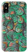Mandala In Green IPhone Case
