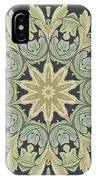 Mandala Leaves In Pale Blue, Green And Ochra IPhone Case