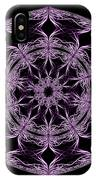 Mandala Purple And Black IPhone Case