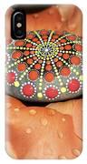 Mandala Stone In Rose Petals IPhone Case