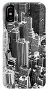 Manhattan In Monochrome. IPhone Case