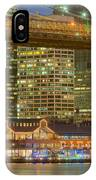 Manhattan Night Skyline I IPhone Case