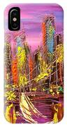 Manhattan Purple By Mark Kazav IPhone Case