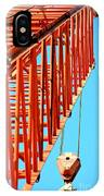 Manitowoc Red Boom Block And Hook IPhone Case