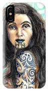 Maori Woman IPhone Case