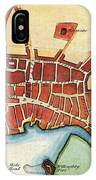 Map: Barbados, C1770 IPhone Case