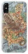 Map: Boston, C1880 IPhone Case