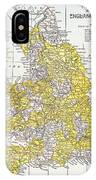 Map: England & Wales IPhone Case