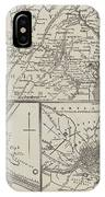 Map Illustrating General Lee's Advance Into Pennsylvania  IPhone Case