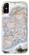 Map: Ireland, 1851 IPhone Case