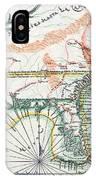 Map: North America, 1742 IPhone Case