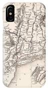 Map: Northeast U.s.a IPhone Case