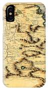 Map Of Africa 1690 IPhone Case