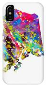 Map Of Alaska-colorful IPhone Case