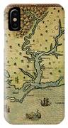 Map Of America 1590 IPhone Case