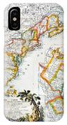 Map Of America, 1779 IPhone Case